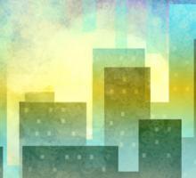 Minimalist, abstract colorful Urban design Sticker