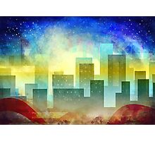 Minimalist, abstract colorful Urban design Photographic Print