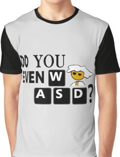 Steam PC Master Race Geek Do You Even WASD? Graphic T-Shirt