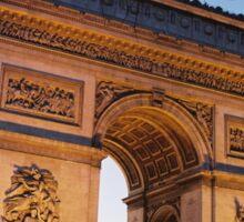 Crépuscule à l'Arc de Trimophe, Paris Sticker