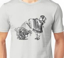 Vintage victorian girl watering magic mushrooms Unisex T-Shirt