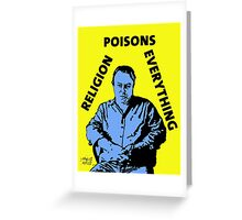Christopher Hitchens Poison Greeting Card