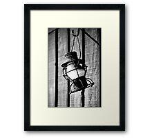 Vintage Oil Lamp Framed Print
