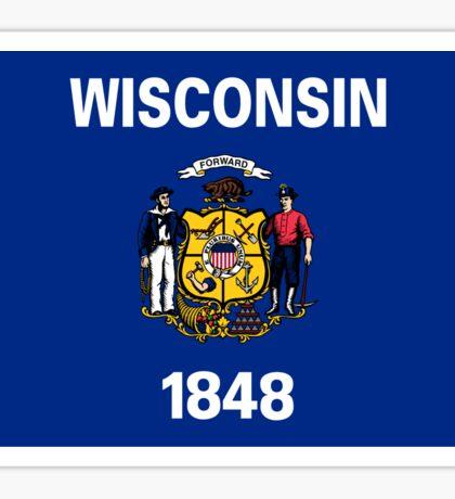Wisconsin Flag Sticker