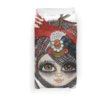 Lucy Kate with Steampunk Party Hat Duvet Cover