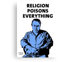 Christopher Hitchens white background Canvas Print