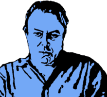 Christopher Hitchens white background Sticker