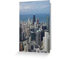 A view of the Windy City Greeting Card