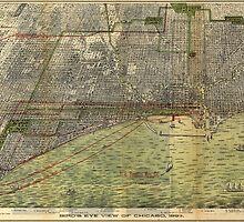 Vintage Map of Chicago (1892) by BravuraMedia