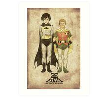 The Adventures of Hat-man and John the Boy Wonder Art Print