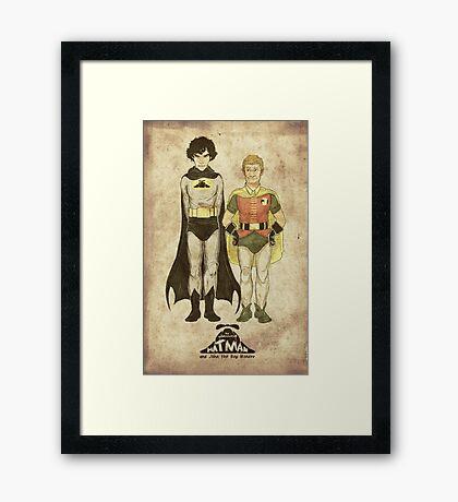 The Adventures of Hat-man and John the Boy Wonder Framed Print