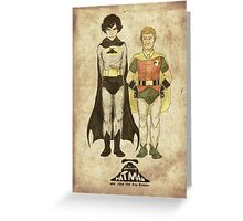 The Adventures of Hat-man and John the Boy Wonder Greeting Card
