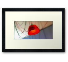 The red Lamp Framed Print