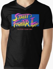 Street Fighter II Turbo Mens V-Neck T-Shirt