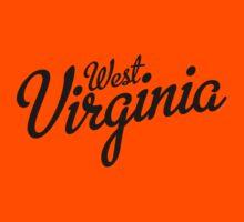 West Virginia Script Black Kids Clothes