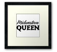 Midwestern Queen Framed Print