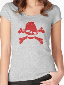 Sloth Skull T-Shirt Women's Fitted Scoop T-Shirt