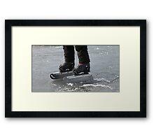 giant Ice Skate Framed Print