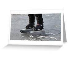 giant Ice Skate Greeting Card
