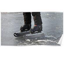 giant Ice Skate Poster
