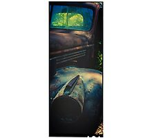 Old Rusty Truck Filtered and Framed Photographic Print