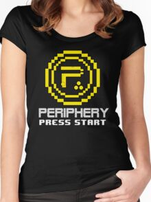 Periphery 8-bit Yellow/Ketchup vs. Mustard Women's Fitted Scoop T-Shirt
