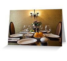 Dinner Setting Greeting Card