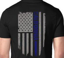 California Thin Blue Line American Flag Shirt Unisex T-Shirt
