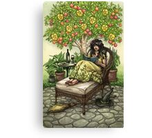 Everyday Witch Tarot - Nine of Pentacles Canvas Print