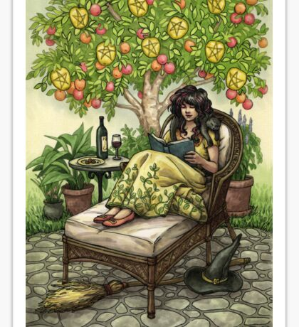 Everyday Witch Tarot - Nine of Pentacles Sticker