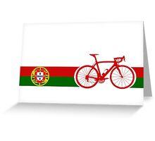 Bike Stripes Portugal  Greeting Card
