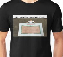ALL I WANT FOR CHRISTMAS IS A BOX OF 609 DONUTS Unisex T-Shirt