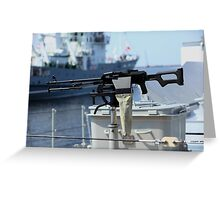 Machine gun Kalashnikov Greeting Card
