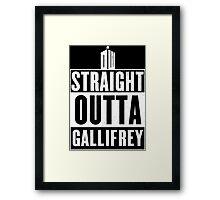 Straight outta Gallifrey Framed Print