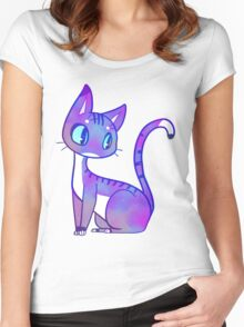 Galaxy Cat Women's Fitted Scoop T-Shirt