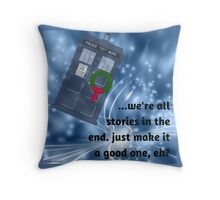 Good Stories for the Holidays Throw Pillow