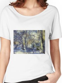 Outhouse in Snow Women's Relaxed Fit T-Shirt