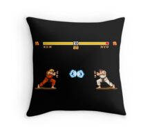 Ken vs. Ryu Throw Pillow