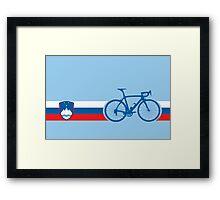 Bike Stripes Slovenia Framed Print