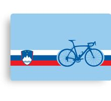 Bike Stripes Slovenia Canvas Print