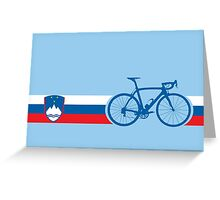 Bike Stripes Slovenia Greeting Card