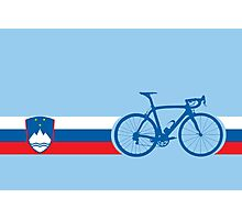 Bike Stripes Slovenia Photographic Print