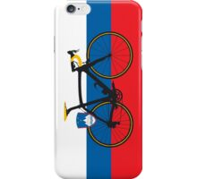 Bike Flag Slovenia (Big - Highlight) iPhone Case/Skin