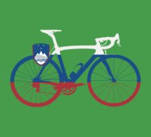 Bike Flag Slovenia (Big) Kids Tee