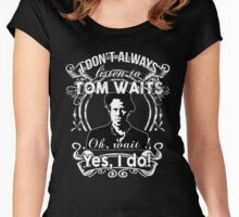 TOM WAITS'FANS NEW Women's Fitted Scoop T-Shirt