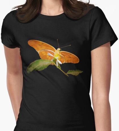 Beauty beneath her wings Womens Fitted T-Shirt