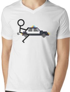 Fuck Police cool funny police car fucking icon Mens V-Neck T-Shirt
