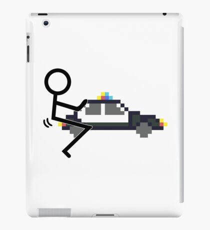 Fuck Police cool funny police car fucking icon iPad Case/Skin