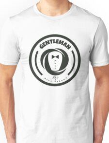 Gentleman and a Nice Person Funny Tuxedo Vintage Logo  Unisex T-Shirt