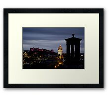 Clock tower from Calton Hill Framed Print